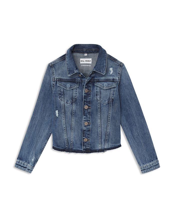 DL1961 - Girls' Manning Distressed Denim Jacket - Big Kid