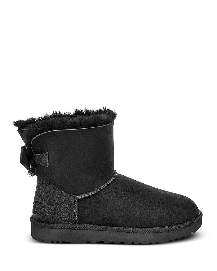 6b1995cab7b UGG® - Women s Mini Bow Round Toe Suede   Sheepskin Boots - 100% Exclusive