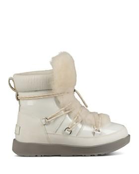 UGG® - Women's Highland Round Toe Leather & Sheepskin Waterproof Boots