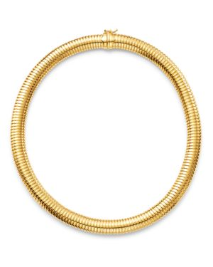 Bloomingdale's Tubogas Collar Necklace in 14K Yellow Gold, 18 - 100% Exclusive