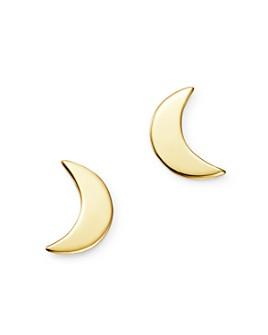Moon & Meadow - Small Moon Stud Earrings in 14K Yellow Gold - 100% Exclusive