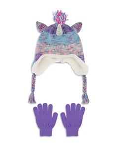 Capelli - Girls' Unicorn Hat & Gloves Set - Little Kid, Big Kid
