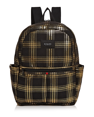 State KANE METALLIC PLAID BACKPACK