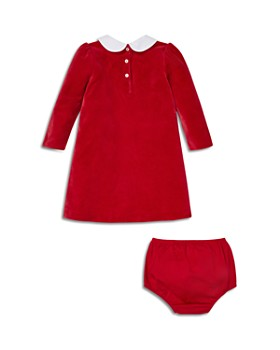 Ralph Lauren - Girls' Embroidered Velour Dress & Bloomers Set - Baby