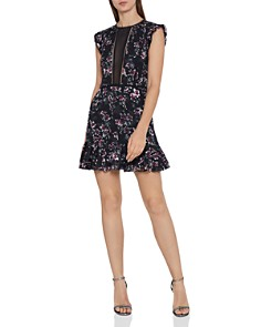 REISS - Alexandra Floral Burnout Mini Dress