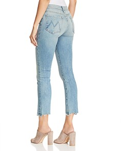 MOTHER - The Rascal Ankle Chewed-Hem Straight-Leg Jeans in Truth or Dare