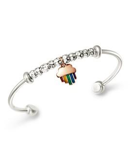 Dodo - Sterling Silver Rainbow Charm Cuff