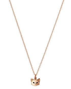 "Dodo - Cat Pendant Necklace, 15.7"""
