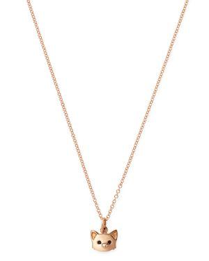 DODO French Bulldog Pendant Necklace, 15.7 in Rose Gold
