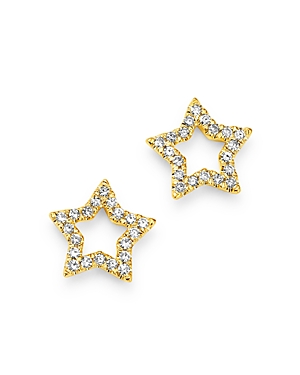 Moon & Meadow Diamond Star Stud Earrings in 14K Yellow Gold - 100% Exclusive