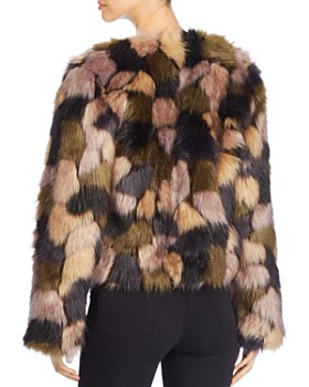 Bagatelle - Multicolored Faux Fur Jacket