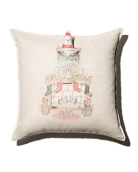 "Coral & Tusk - Chimney Santa Decorative Pillow, 20"" x 20"""