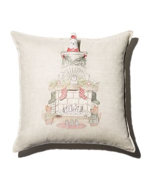 Coral & Tusk Chimney Santa Decorative Pillow, 20 x 20