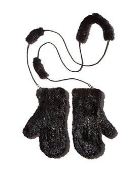 Maximilian Furs - Knit Mink Fur Mittens - 100% Exclusive