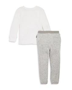 Splendid - Boys' Waffle-Knit Shirt & Speckled Jogger Pants Set - Little Kid