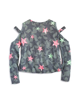 Play Six - Girls' Camo-Print Star Cutout Sweater Top - Little Kid