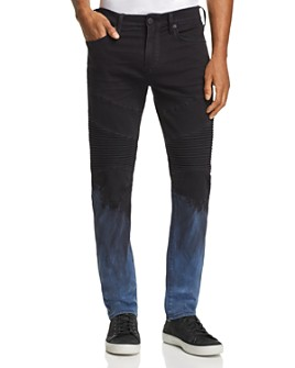 True Religion - Rocco Dip-Bleached Skinny Fit Jeans in Pipeline Blue