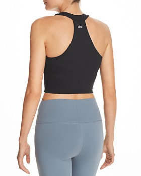 Alo Yoga - Unite Rib-Knit Sports Bra