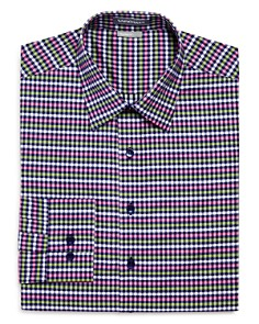 Vardama - Vaux Gingham Regular Fit Dress Shirt