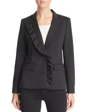 LE GALI Kiara Asymmetric Ruffle Blazer - 100% Exclusive in Black