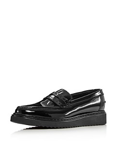 Kurt Geiger - Women's Kala Patent Leather Platform Loafers