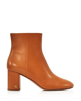 Tory Burch - Women's Brooke Round Toe Leather Booties