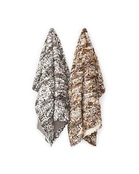Adrienne Landau - Leopard Print Fur Throw