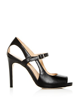 Joan Oloff - Women's Gigi Leather Mary Jane High-Heel Sandals