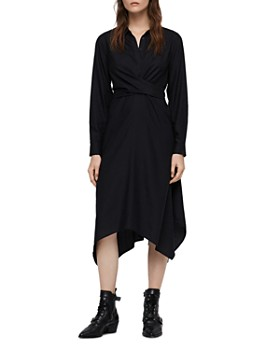 ALLSAINTS - Flyn Midi Shirt Dress