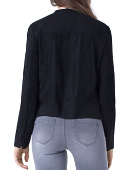 Liverpool - Perforated Drape-Front Jacket
