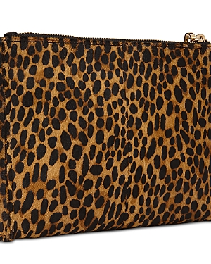 Whistles Hampstead Medium Leopard Print Leather Wristlet