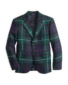 Brooks Brothers - Boys' Plaid Holiday Suit Jacket - Big Kid