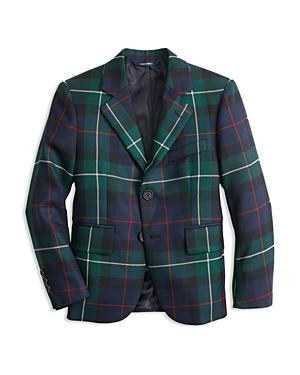 Brooks Brothers Boys Plaid Holiday Suit Jacket  Big Kid