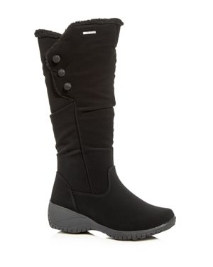 KHOMBU Women'S Amy Waterproof Cold-Weather Wedge Boots in Black