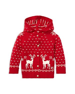 Ralph Lauren Girls Reindeer Hooded Sweater  Baby