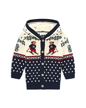 Ralph Lauren Boys Ski Bear CottonWool Cardigan  Baby