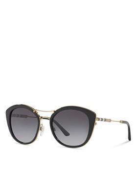 62280cecdb4 ... 53mm Burberry - Women s Polarized Check Round Sunglasses