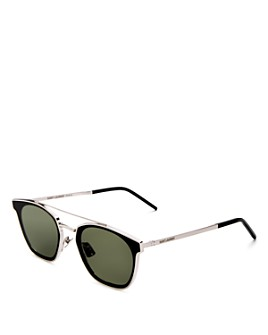 Saint Laurent - Men's Brow Bar Square Sunglasses, 61mm