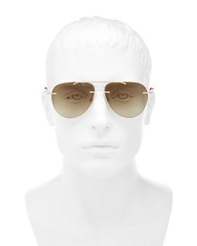 Gucci - Men's Brow Bar Rimless Aviator Sunglasses, 62mm