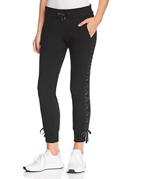 Blanc Noir - Lace-Up Jogger Pants