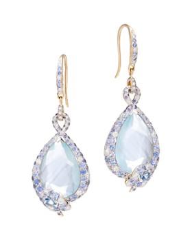 John Hardy - 18K Yellow Gold Cinta Multi-Stone Cobra Drop One-of-a-Kind Earrings with Black & White Diamonds - 100% Exclusive