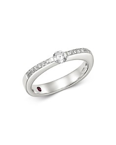 Roberto Coin - 18K White Gold Classica Pavé Diamond Ring