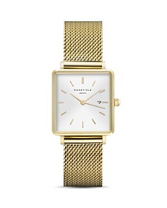 Rosefield - The Boxy Gold-Tone Watch, 26mm x 28mm