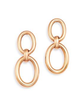 Roberto Coin - 18K Rose Gold Classic Oro Drop Earrings