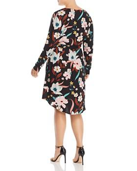JUNAROSE Plus - Zeenan Long-Sleeve Floral-Print Dress