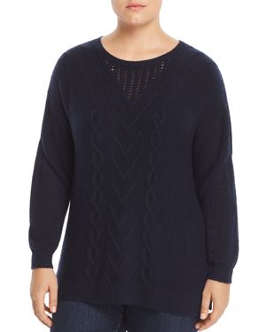 Lucky Brand Plus Mixed-Knit Sweater