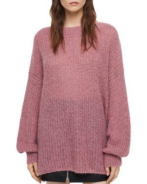 Renne Oversized Sweater in Pink Twist