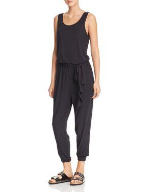 GAIAM X JESSICA BIEL Mercer V-Back Jumpsuit in Black