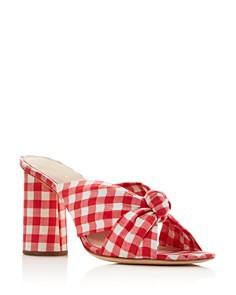 Loeffler Randall - Women's Coco Gingham Print High-Heeled Sandals
