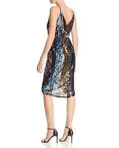 JOA - Striped Sequined Dress